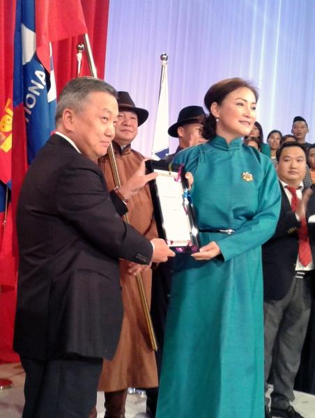 Монгол Улсын Ерөнхийлөгчийн зарлигаар МҮОНТВ-ийг Сүхбаатарын одонгоор шагналаа
